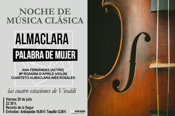 Cartel Noche Musica Clasica - Verano Vejer